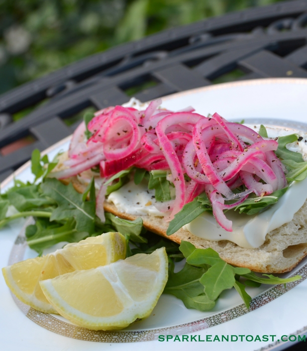 Pickled_Red_Onion_Arugula_Creme_Fraiche_Toast_